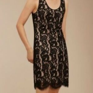 NWOT Aritzia Wilfred Hemon Black/Nude Lace Dress